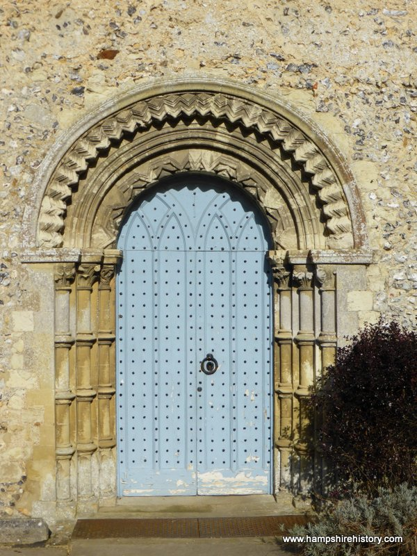 Norman doorway in Easton church Hampshire