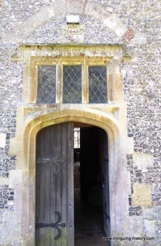 Meonstoke church 16th century  door