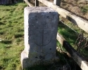 Post surrounding Nelson Monument site with engraved anchor