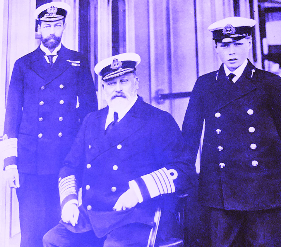 King Edward VII and King George with Son David Duke of Windsor