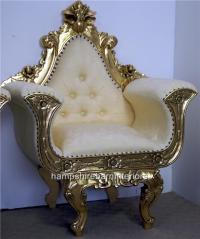 Ornate Gold Gilded Wedding Throne Chair | Hampshire Barn ...
