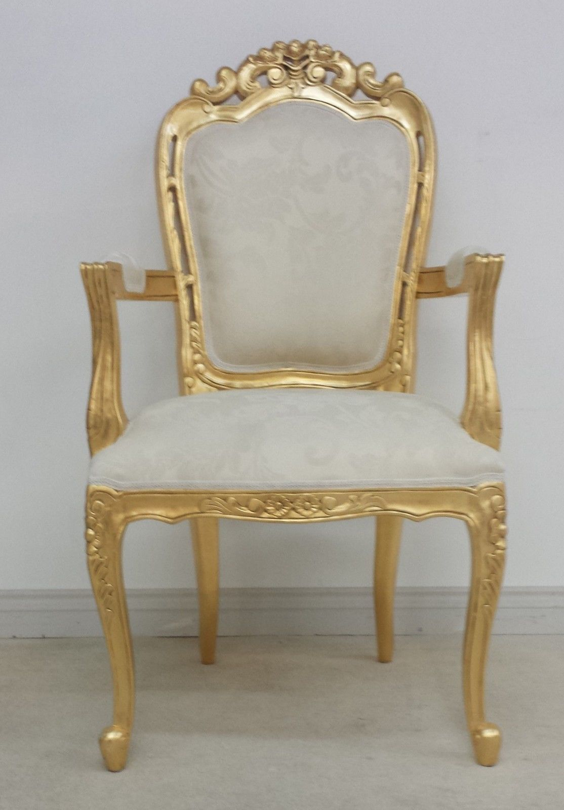 gold dining chairs baby lounge chair franciscan in gilded and ivory cream or