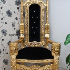 Velvet Dining Room Chairs Uk Cheap Accent With Arms Lion Throne Chair | Hampshire Barn Interiors