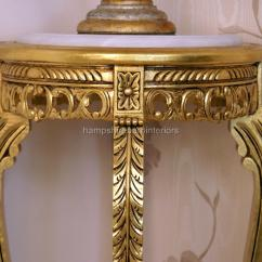Large Occasional Chairs Home Depot Ornate Marble Topped Flower / Plant Display/ Lamp Stand (gold, Silver Or Mahogany Finish ...