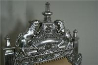 The Tudor Royal Throne Chair in Silver and Cream