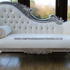 White Chaise Chair Leather Repair Kit Lounge Hampshire Barn Interiors