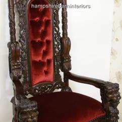 Sofa Seat Height 60cm Cat Protective Covers A Gothic Lion King Throne Chair In Mahogany And Red Velvet ...