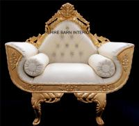 A CATHERINE ORNATE GOLD ROYAL WEDDING 3 PIECE SET / SUITE