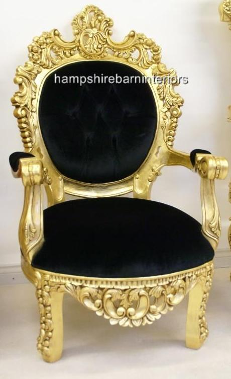 sofa bed with chaise longue uk leather sofas seattle arabian nights throne chair…..gold and black or gold ...