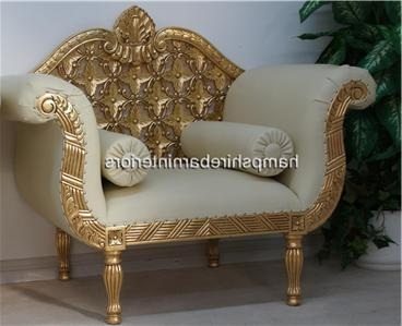 leather couch and chair set costco office review a royal wedding (sofa plus two chairs) in gold leaf white easiclean faux ...