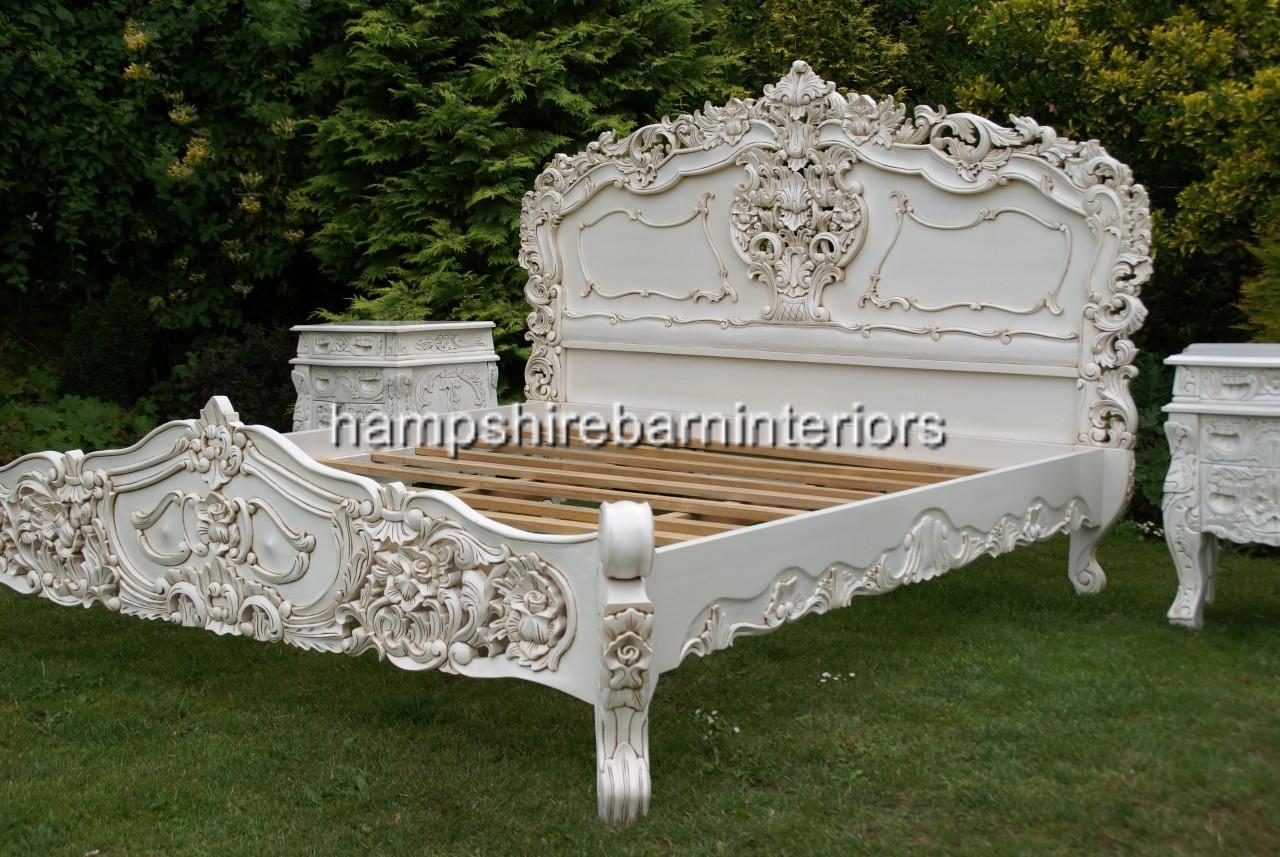 baroque sofa bed what colour goes with dark blue walls antique cream rococo hampshire barn interiors