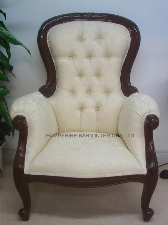antique high chairs desk chair ergonomic requirements replica arm victorian wing style mahogany cream gold | hampshire barn interiors