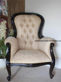 Antique Replica Arm Chair Victorian Wing style Mahogany ...