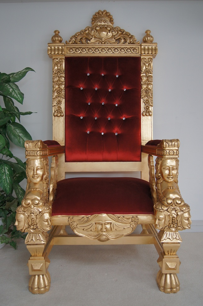red velvet office chair purple chaise lounge a emperor rose large ornate throne | hampshire barn interiors