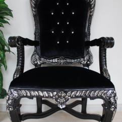 Black Velvet Throne Chair Diy Slipcover Pattern Large Chairs | Hampshire Barn Interiors