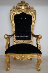 A EMPEROR ROSE LARGE ORNATE THRONE CHAIR