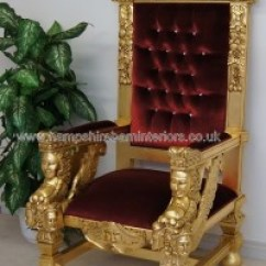 French Canopy Chair Tall Arm Large Throne Chairs | Hampshire Barn Interiors - Part 4