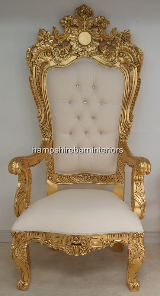 A EMPEROR ROSE LARGE ORNATE THRONE CHAIR  Hampshire Barn Interiors