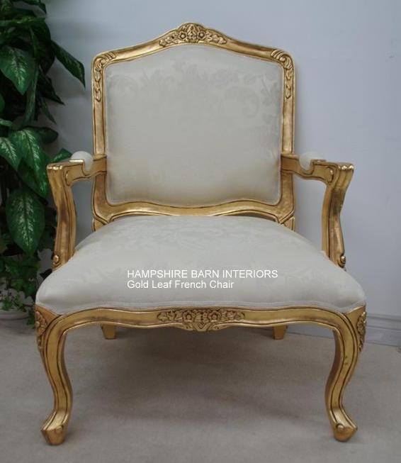 french louis chair reclining lift chairs a beautiful arm style in gold leaf with ivory cream fabric