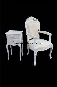 Chateau French Style Ornate White Chair ..dining, desk ...