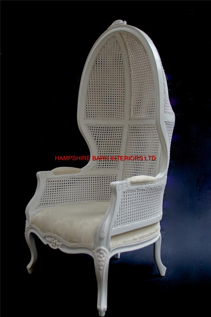 french canopy chair industrial metal dining chairs white feature tall throne arm designer hooded chateau antique