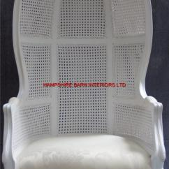 Throne Office Chair Accessories White Feature Tall Arm French Designer Hooded Canopy | Hampshire Barn Interiors