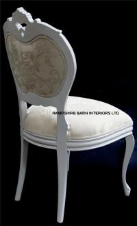 Chateau French Style Boudoir Ornate White Chair ..dining