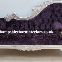 Throne Office Chair Improper Posture In A Beautiful Silver Leaf And Purple Crushed Velvet Designers Chaise | Hampshire Barn Interiors