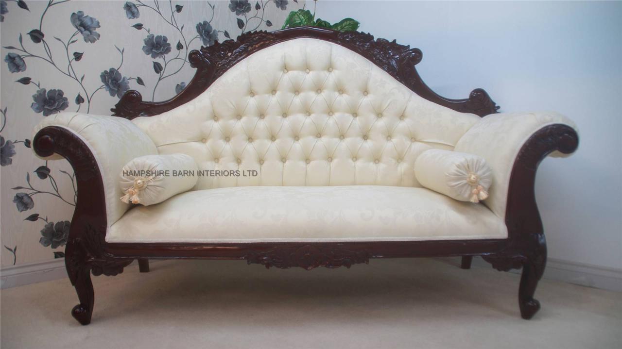 Antique replica Charles Louis cuddler sofa chaise in