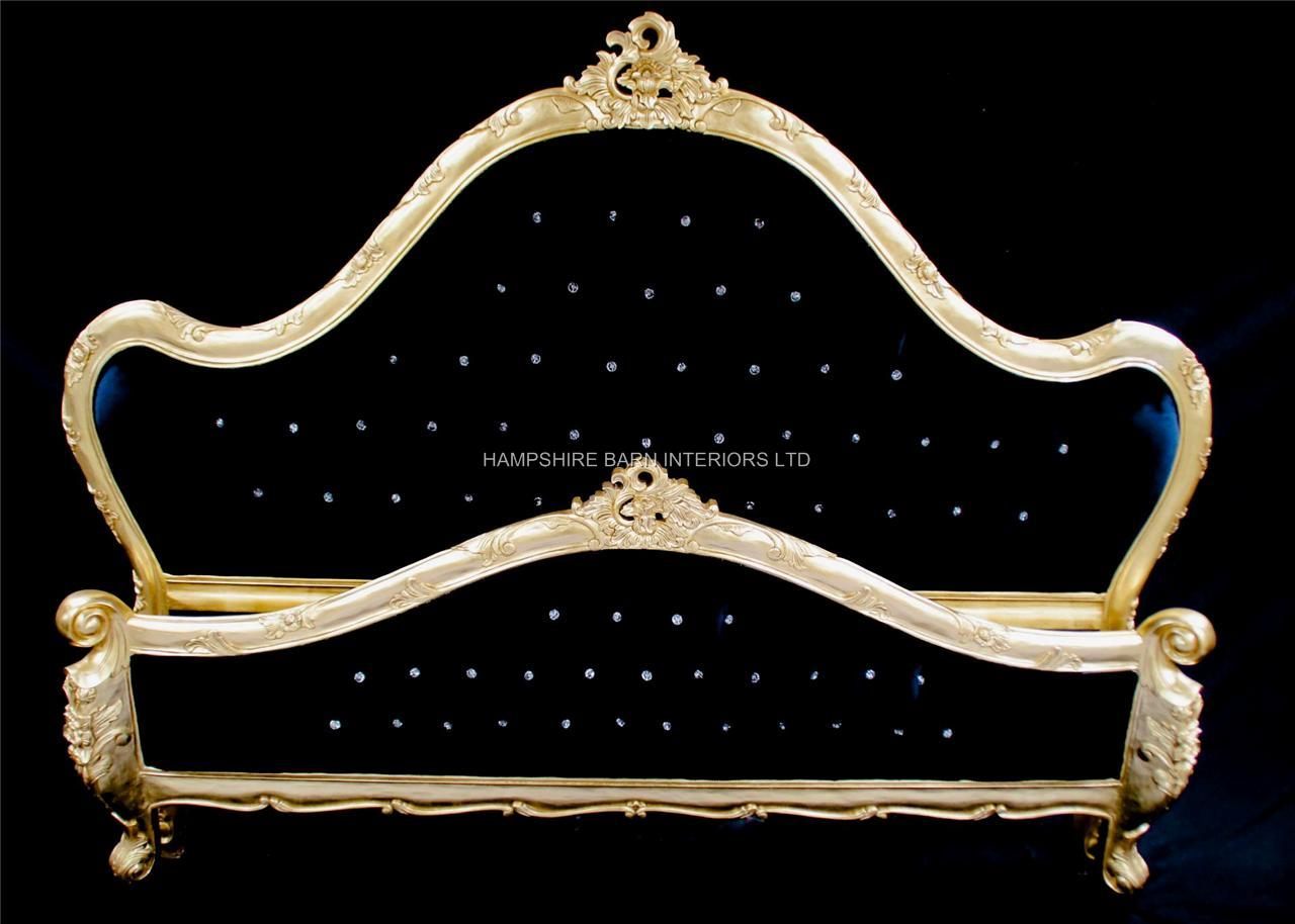 A Charles French Louis Style Bed In Gold Leaf And