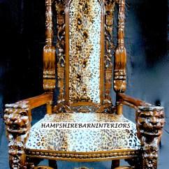 Black Velvet Throne Chair Folding Adirondack Design Chairs | Hampshire Barn Interiors - Part 5