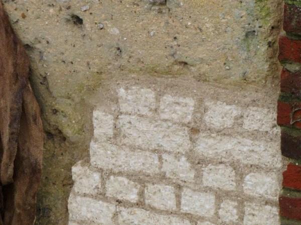 Chalk cob boundary wall hampshire