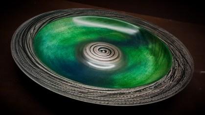 'Silver Sea' sycamore platter