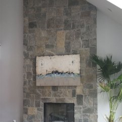 Long Island Kitchen Design French Country Stone Facing | Cultured & Brick Veneer Mason ...