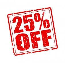 Tarjouksia -25%