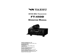 YAESU FT-450D Transceivers Mobile HF-6M, FT450D