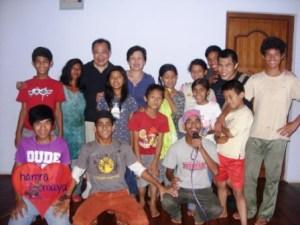 Wir verbringen gerne Zeit im Buddhist Child Home.