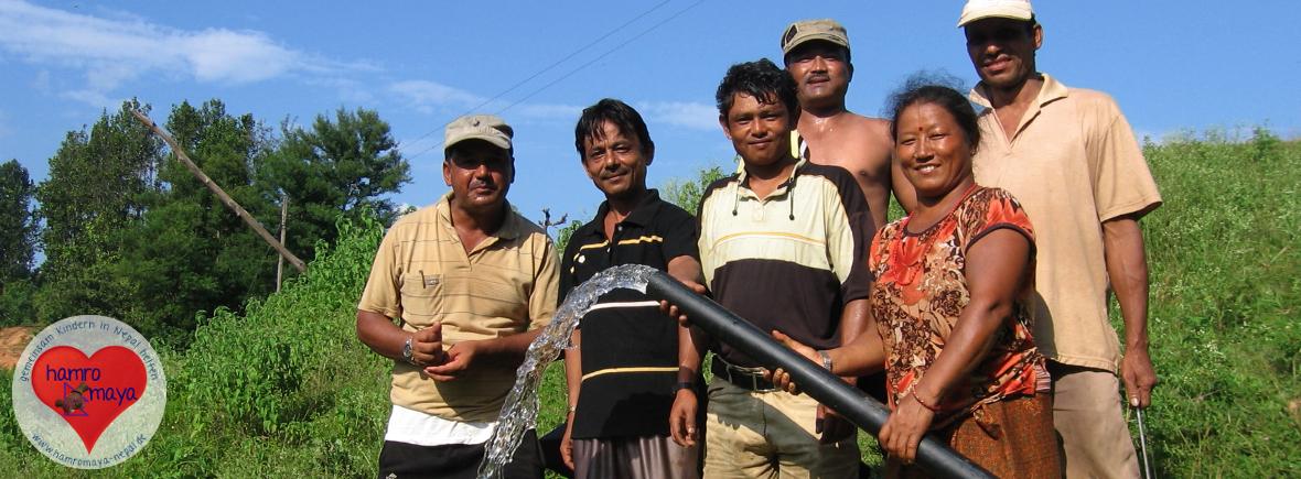 Wasserprojekt für Dörfer im ländlichen Nepal