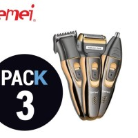 Gemei GM-595 Rechargeable Shaver And Trimmer Set