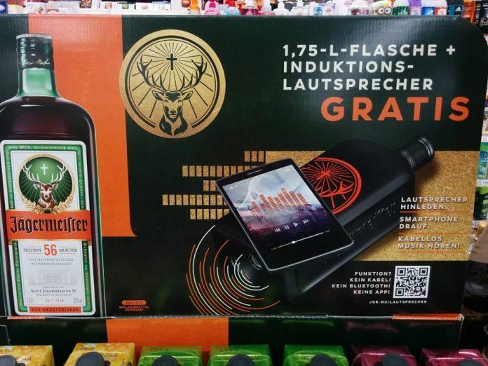 Jägermeister - mit Induktions-Lautsprecher