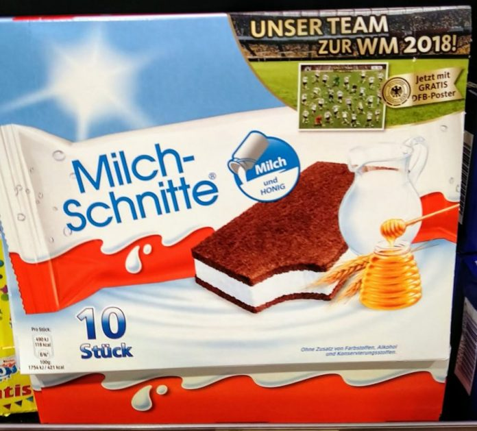 Ferrero Milch-Schnitte Kinder Pingui - Fussball-WM