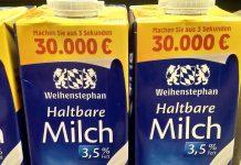 Weihenstephan H-Milch - Drei-Sekunden-Gewinnspiel