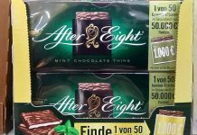 After Eight Gewinntütchen