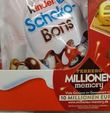 Ferrero Millionen Memory: Preise für 10 Millionen Euro gewinnen