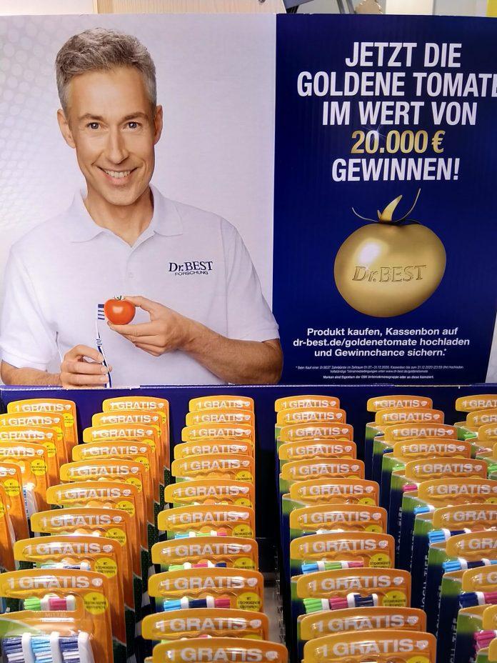 Dr. Best Zahnbürste Goldene Tomate gewinnen