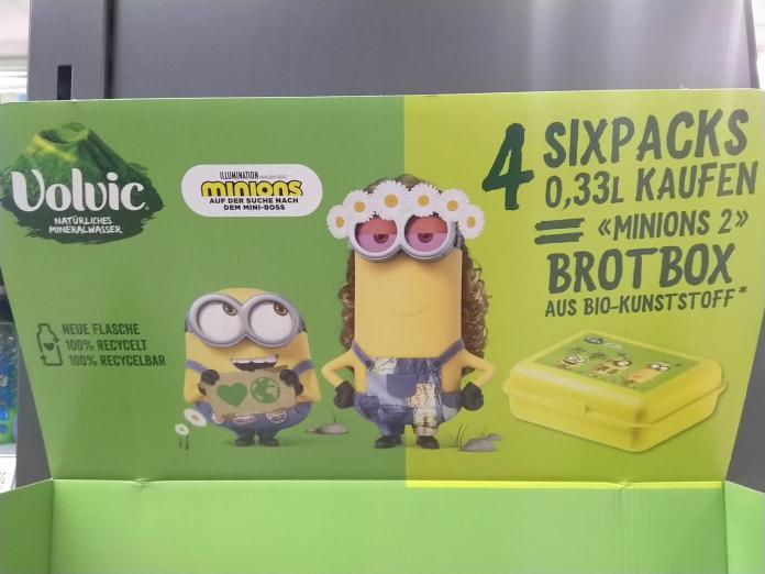 Volvic - Minions 2 Brotdose Lunchbox gratis