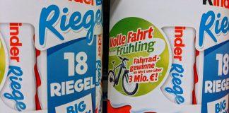 Ferrero Volle Fahrt in den Frühling Gewinnspiel: Fahrrad-Preise für 3 Mio € gewinnen mit Kinder, Hanuta und Duplo
