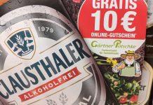 Clausthaler: 10 Euro Gutschein Code für Gärtner Pötschke gratis