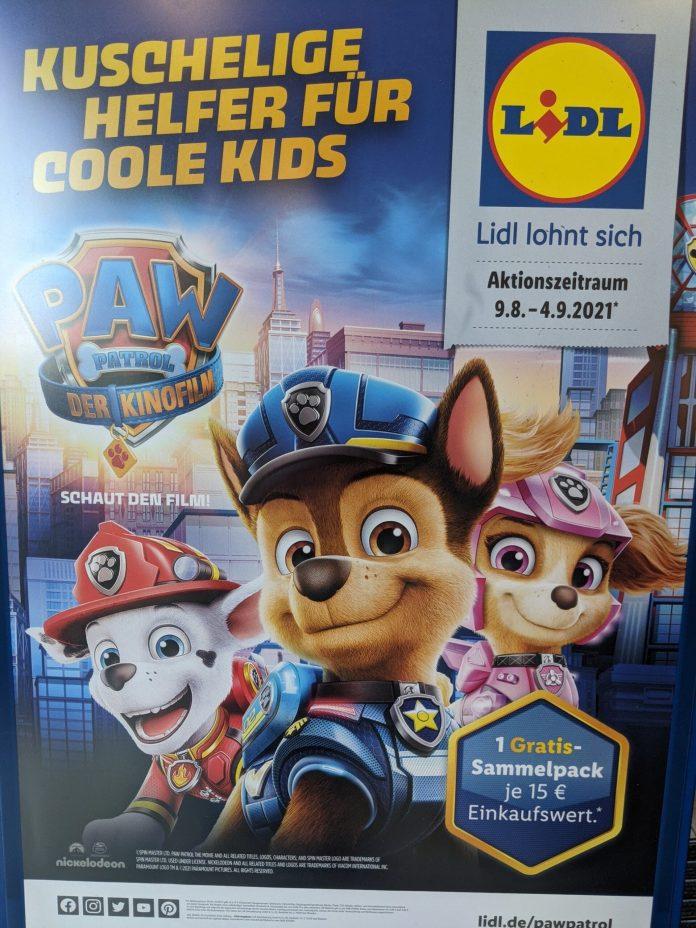 Lidl: Paw Patrol Treue-Aktion: Sammelpack gratis je 15 Euro Einkauf