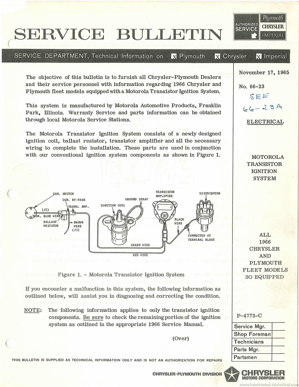 hight resolution of  electrical chrysler plymouth with transistor ignition 1